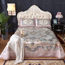Pink Symmetrical Pattern Polyester 3-Piece Digital Printing Summer Sleeping Mat Sets