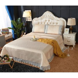 Luxury Gold Lace Polyester 3- Piece Summer Sleeping Mat Sets