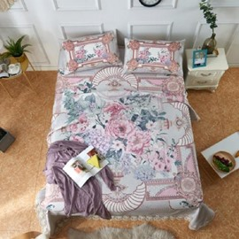 Flower Pattern Lace Polyester Printing 3-Piece Summer Sleeping Mat Sets
