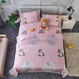 Panda & Bamboo Design Lace Polyester 3-Piece Summer Sleeping Mat Sets