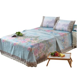 Flower Blooming Printing Soft 3-piece Summer Sleeping Mat Sets