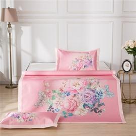 Flower Blooming Polyester Digital Printing 3-Piece Summer Sleeping Mat Sets