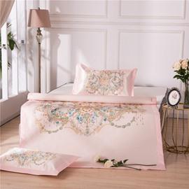 Decorative Pattern Ice Polyester Digital Printing 3-Piece Summer Sleeping Mat Sets