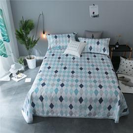 Geometric Rhombus Plain Polyester Cooling Printing 3-Piece Summer Sleeping Mat Sets