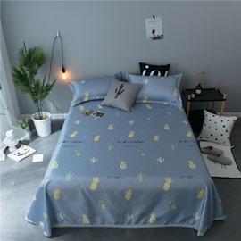 Pineapple and Cactus Cartoon Printing Cooling 3-Piece Summer Sleeping Mat Sets