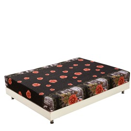 Fragrant Blooming Flowers Print 3D Fitted Sheet