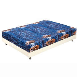 Dark Blue Lifelike Tigers Print 3D Fitted Sheet