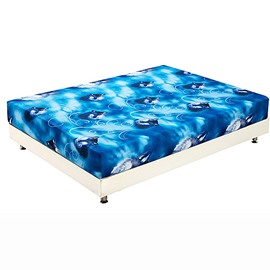 New Arrival Fancy Lifelike Wolf Print 3D Fitted Sheet