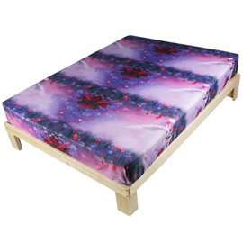 Dreamy Fling Horse Purple Polyester Fitted Sheet