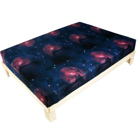 Charming Colorful Galaxy Print Polyester Fitted Sheet