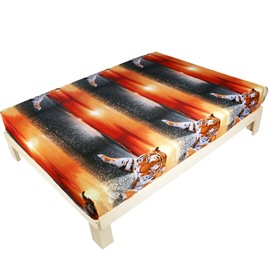 Popular Lying Tiger 3D Print Fitted Sheet