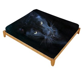 Super Lifelike Wild Panther Printed Cotton Fitted Sheet