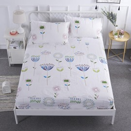 Floral Pattern Printed Waterproof Hypoallergenic Breathable Fitted Sheet