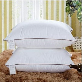 High Quality Hotel Pillow 1 Piece Fancy High Grade Solid White Cotton Pillow