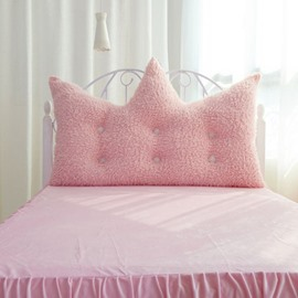 Princess Style Pink Velvet Decoration Backrest Cushion