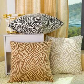 Glamorous Fashion Zebra Print Plush Throw Pillow