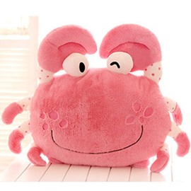 Super Lovely Steamed Crab Pattern Throw Pillow