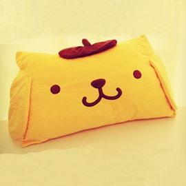 Super Soft Cute Yellow Purin Pattern Throw Pillow