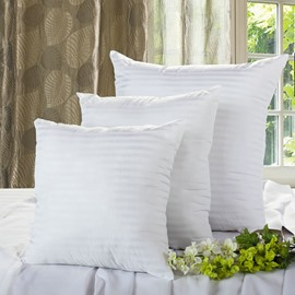High Quality PP Cotton Pure White a Pair Throw Pillow