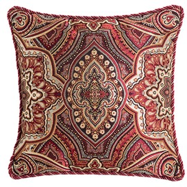 Western Style Characteristic Flower Pattern Throw Pillow