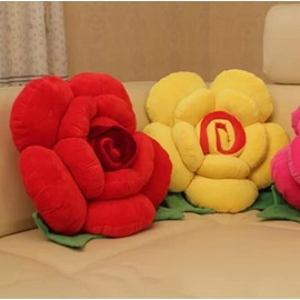 Multicolor Choice Flower Shape Single Throw Pillow