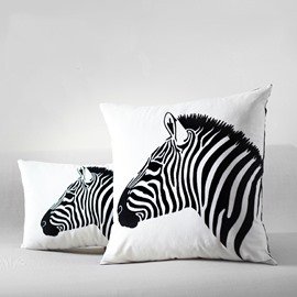 Zebra Head Printing Easy Style Throw Pillow