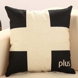 Faddish Plus Sign Print Comfy Decorative Throw Pillow