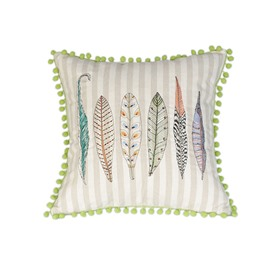 New Fresh Style Leaves Embroidery Throw Pillow