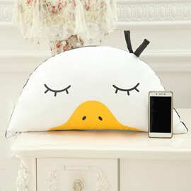 White and Yellow Funny Duck PP Cotton Throw Pillow