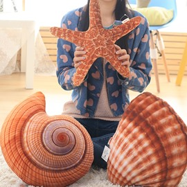 3D Vivid Sea Creature Shaped Dual Use Throw Pillow/Quilts