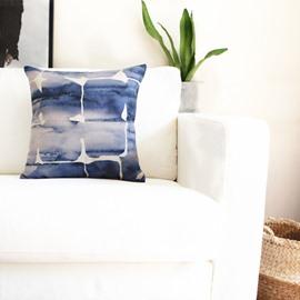 Ethnic Style Splendid Indigo Decorative Throw Pillow