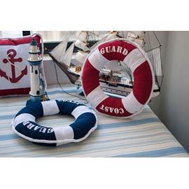 Chic Design Swim Ring Round Throw Pillow