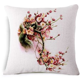 Wonderful Prunus Mume Print Square Throw Pillow