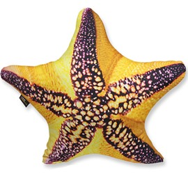 Stylish 3D Starfish Shaped Decorative Throw Pillow