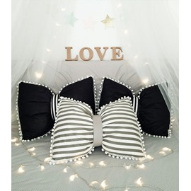 Lovely Bowknot Design PP Cotton Throw Pillow