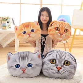 Lifelike 3D Cat Design Decorative Throw Pillow