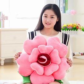 Fancy Multicolor Soft Plush Flower Shape Throw Pillow
