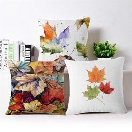 Wonderful Maple Leaves Print Print Square Throw Pillow