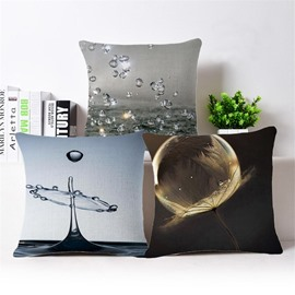 Chic Water Drop Print Square Throw Pillow