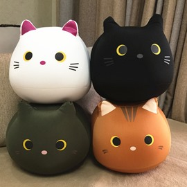 Cat Shape Plush Toys Nano Foam Particles Stuffed Squishy Throw Pillows