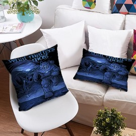 3D Skull and Mythical Monsters Printing Polyester Throw Pillow