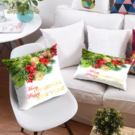 Christmas Ornaments 3D Printing Polyester Throw Pillow