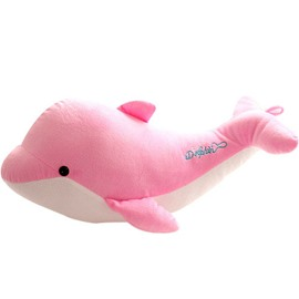 Fancy Dolphin Shape Super Soft Pink Pillow