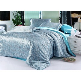 Noble Paisley 4-Piece Water Blue Duvet Cover Sets