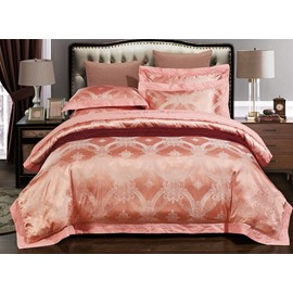 Elegant Jacquard Satin 4-Piece Duvet Cover Sets