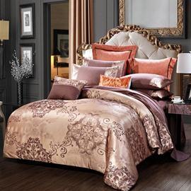 Floral Pattern Design Elegant 4-Piece Bedding Sets/Duvet Cover