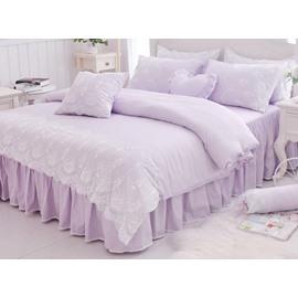 Romantic Princess Style Lace 4-Piece Cotton Duvet Cover Sets
