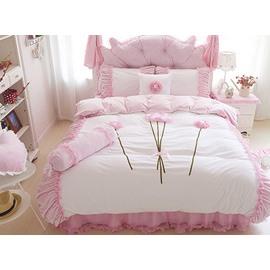 Romantic Flower Pattern Lace Style 4-Piece Duvet Cover Sets