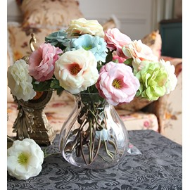 New Arrival Lovely Elegant Rose 6-Piece Decorative Artificial Flowers