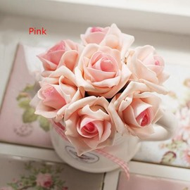 New Arrival Romantic Colorful Artificial Roses Decorative Desktop Flower Set